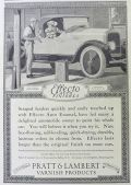 1923 Effecto Auto Finishes Ad ~ Edward Penfield Art