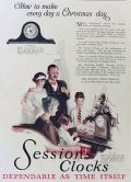 1923 Sessions Clock Ad ~ Harwood