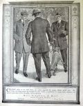 1910 Hart Schaffner Marx Clothing Ad ~ Man With Pitbull