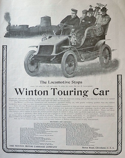 1903 Winton Touring Car Ad