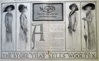 1910 Wooltex Women's Fashion Ad ~ Motor Coat, Steamer Coat