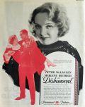 "1931 Movie Ad ~ ""Dishonored"" ~ Marlene Dietrich"