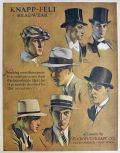 1930 Knapp Felt Headwear Men's Hats Ad