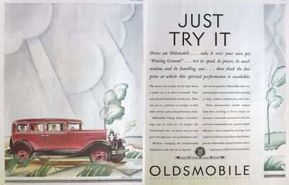 1930 Oldsmobile Six Ad ~ Arild Weborg Art