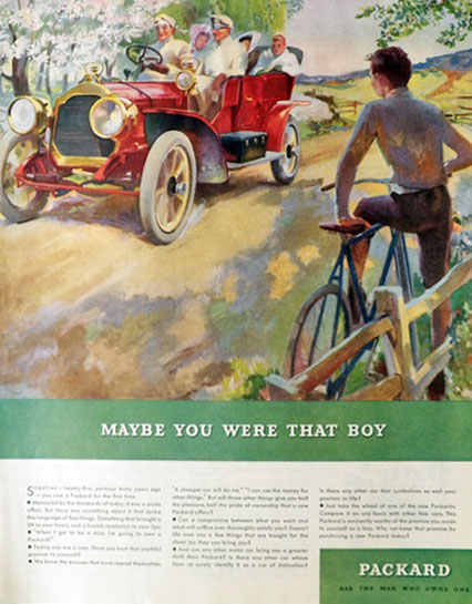 1934 Packard Automobile Ad ~ Maybe You Were That Boy