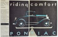 1931 Pontiac Oakland 8 Ad ~ Riding Comfort