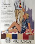 1934 Victoroy Fabric Ad ~ Summer Suns