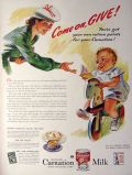 1943 WWII Carnation Milk Ad ~ Ration Points