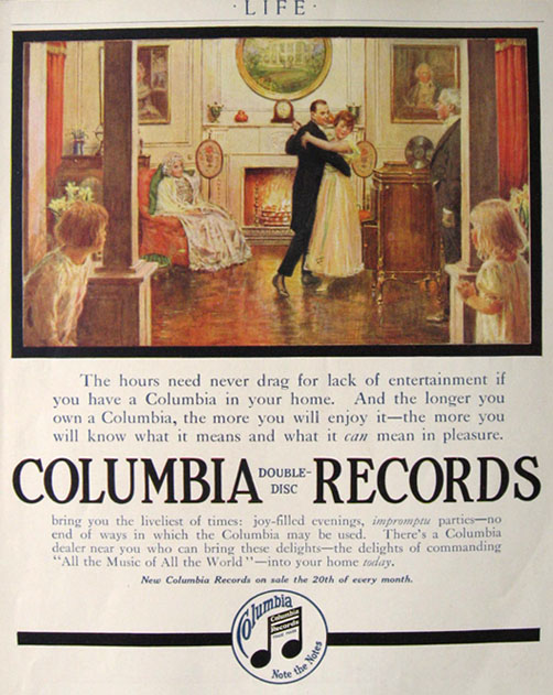 1916 Columbia Records Ad ~ Impromptu Parties