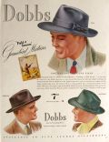 1939 Dobbs Gamebird Mixtures Hat Ad ~ Teal, Grouse, Mallard