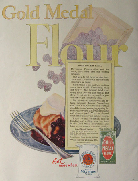 1924 Gold Medal Flour Ad ~ Look for the Label