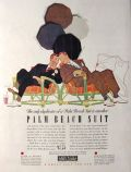 1941 Palm Beach Men's Suits Ad ~ Harry Beckhoff Art
