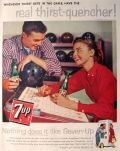 1958 VIntage 7-Up Seven Up Ad ~ Bowling