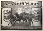 1903 Ben-Hur Flour Ad ~ Two Sacks