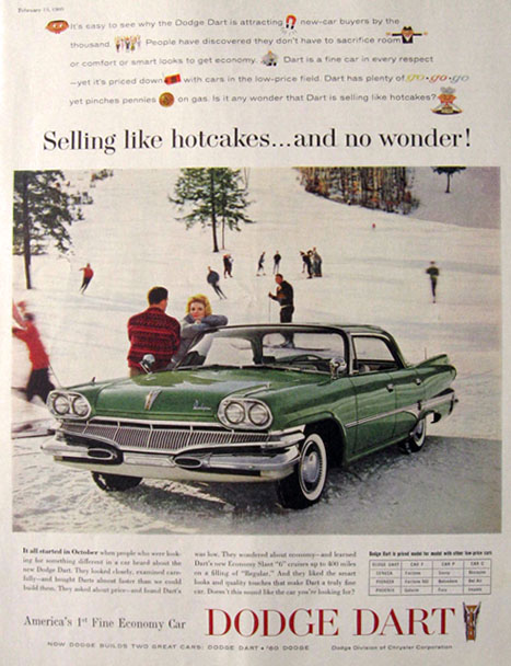 1960 Dodge Dart Ad ~ Selling Like Hotcakes