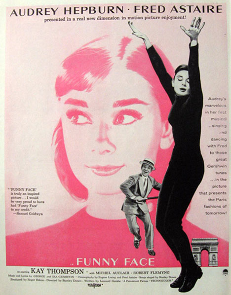 1957 Movie Ad ~ Funny Face ~ Audrey Hepburn