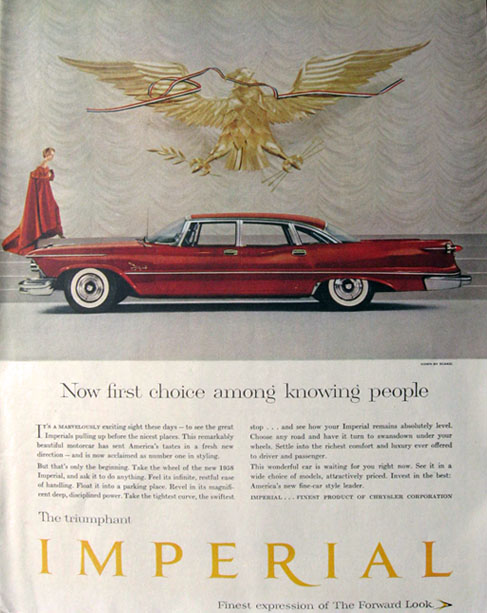 1958 Chrysler Imperial Ad ~ First Choice