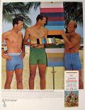 1966 Jantzen Men's Swimsuit Ad ~ Men in Tight Vintage Swimsuits