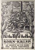 1903 Korn Krisp Cereal Ad ~ Top of the Heap