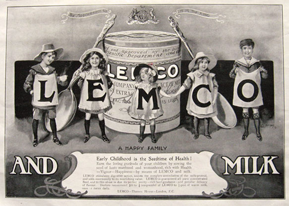 1911 Lemco Concentrated Beef Ad ~ Lemco & Milk
