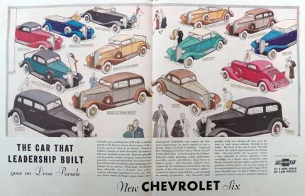 1933 Chevy Six Ad ~ Dress Parade