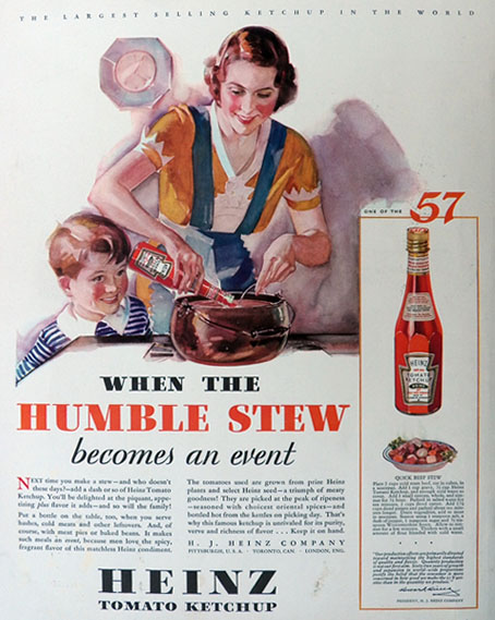 1932 Heinz Ketchup Ad ~ Beef Stew Recipe