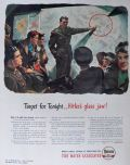 1943 Tidewater Petroleum Veedol Oil Ad ~ Hitler's Glass Jaw