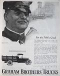 1924 Graham Brothers Trucks Ad ~ For the Public Good