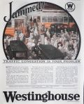 1924 Westinghouse Electric Ad ~ Traffic Congestion