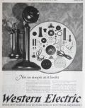 1924 Western Electric Ad ~ Candlestick Telephone Parts
