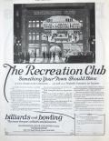 1925 Recreation Billiards Club Business Opportunity Ad
