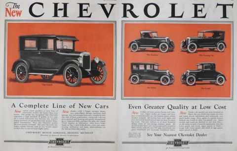 1925 Chevy Ad ~ Complete Line