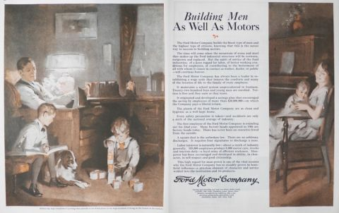 1925 Ford Ad ~ Building Men As Well as Motors