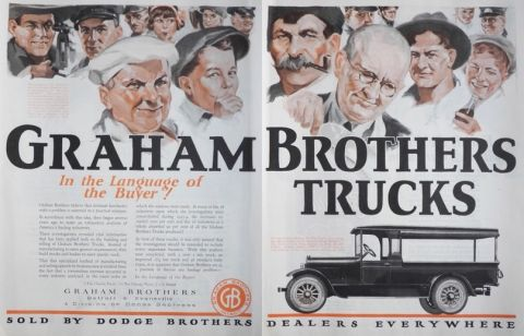1924 Graham Brothers Trucks Ad ~ Language of the Buyer