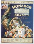 1924 Monarch Food Ad ~ Thanksgiving Cornucopia