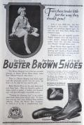 1919 Buster Brown Shoes Ad ~ Tender Little Feet