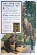 1919 Crompton Corduroy Ad ~ Boys in Knickers Play Marbles