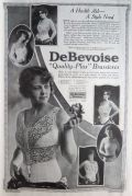 1919 DeBevoise Brassiere Ad ~ Several Styles
