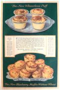 1918 Royal Baking Powder Ad ~ Wheatless Blueberry Muffin Recipe