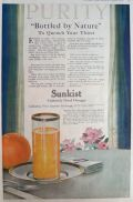1918 Sunkist Oranges Ad ~ Bottled by Nature