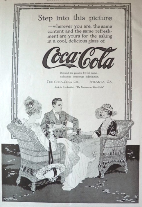 1916 Coca Cola Coke Ad ~ Step Into This Picture