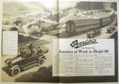 1918 Willys Overland Ad ~ Model 90 ~ Railroad Comparison