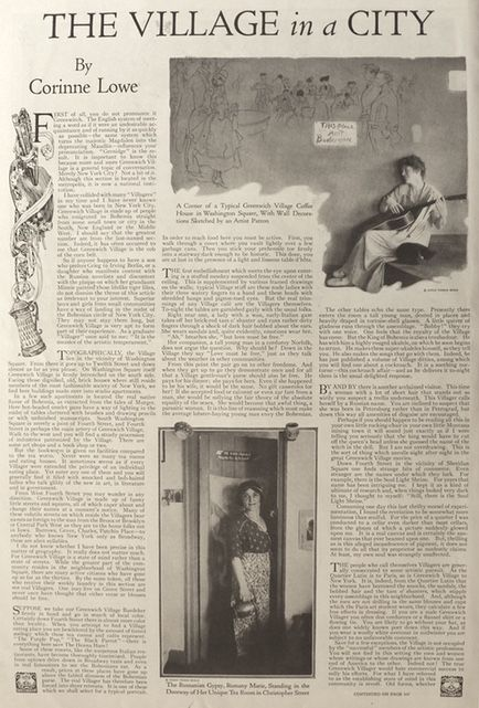 1920 Magazine Article ~ Greenwich Village, NYC