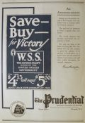 1918 Prudential Insurance Ad ~ Buy War Savings Stamps