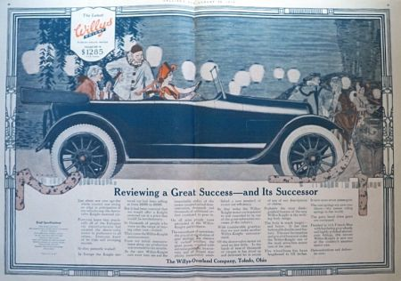 1916 Willys Knight Ad ~ Masquerade Party