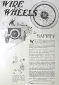 1917 Antique Wire Wheels for Automobiles Ad