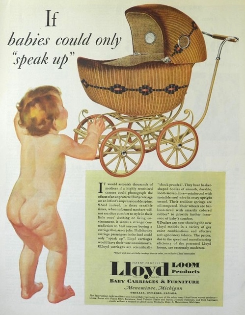 1930 Vintage Lloyd Wicker Baby Carriage Ad