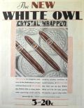 1930 White Owl CIgar Ad ~ Crystal Wrapped