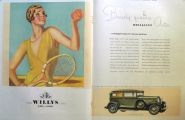 1931 Willys Overland Ad ~ Woman Tennis Player