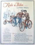 1929 Vintage Ride-A-Bike & Make Money Bicycle Ad
